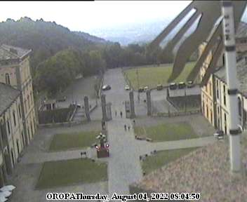 Webcam Biella, Santuario di Oropa (www.osservatoriodioropa.it)